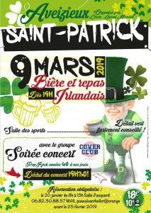 SAINT PATRICK 9 MARS